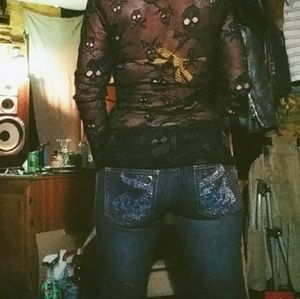 """Official Ed Hardy """"bling"""" jeans"""